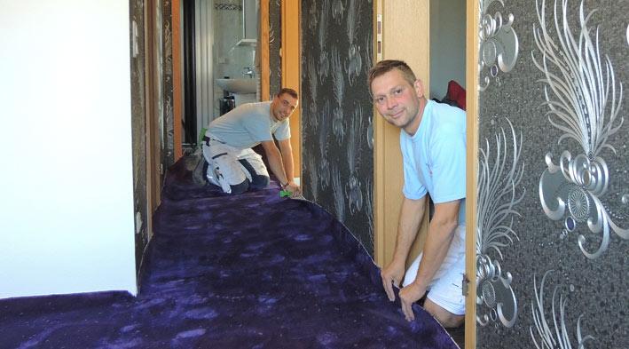 Fußboden Teppich Verlegen ~ Teppichboden als fußboden hofmann maler