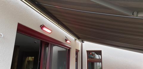 Heizstrahler und LED
