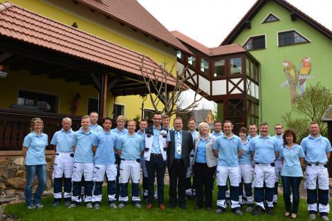 Das Team von Malermeister Bernd Hofmann 2015